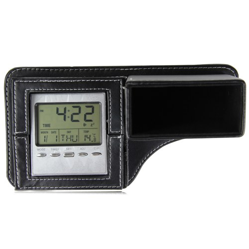 Leather Pen Holder Clock Image 1