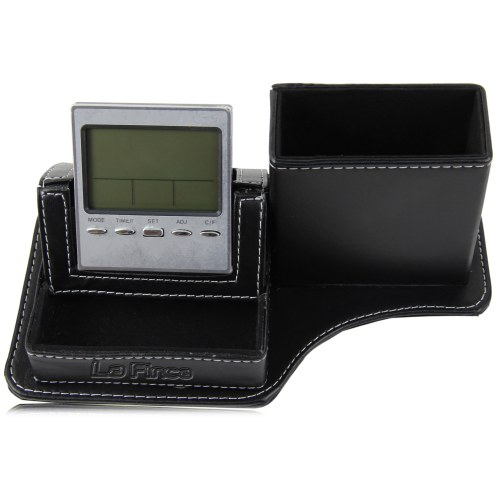 Leather Pen Holder Clock Image 4
