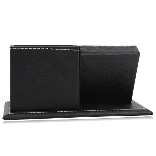 Multifunctional Leather Clock Pen Stand Image 11