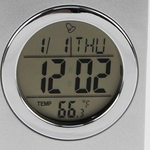 V Pen Holder With Calendar Clock