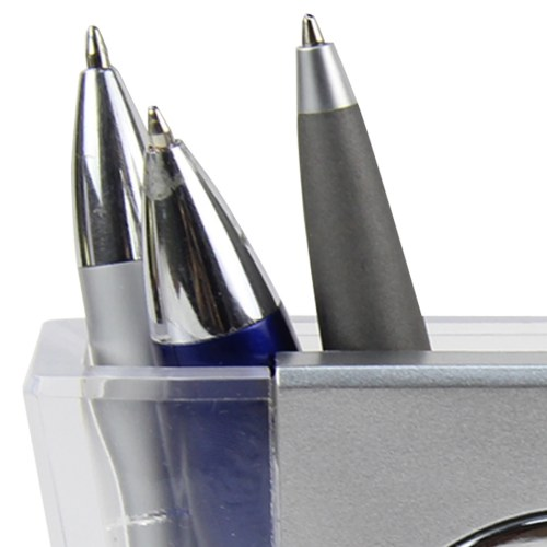 V Pen Holder With Calendar Clock Image 6