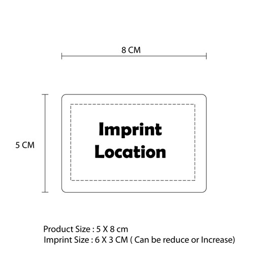 Business Card 3D Fridge Magnet Imprint Image