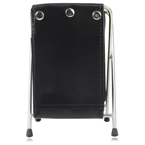 Leather Folding Pen Holder With Clock