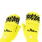 Snowflake Acrylic Flip Gloves