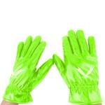 Leather Shirred Elastic Cuff Gloves