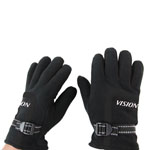 Fleece Gloves With Leather Palm
