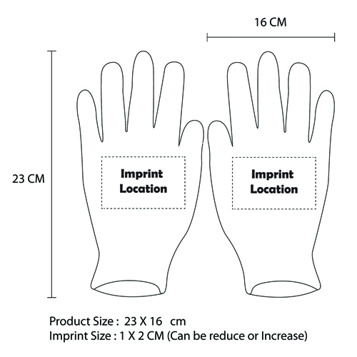 Kevlar Leather Palm Cut Gloves Imprint Image