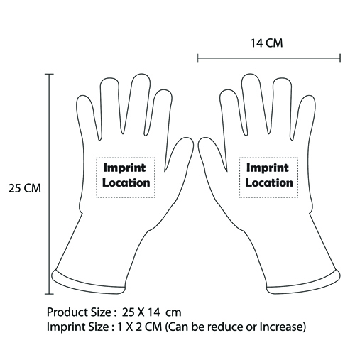 Seamless Knit Cut Resistant Gloves Imprint Image