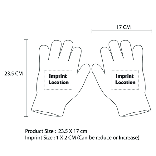 High Temperature Safety Gloves Imprint Image