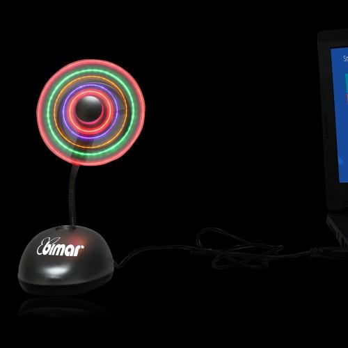 Colorful LED USB Fan