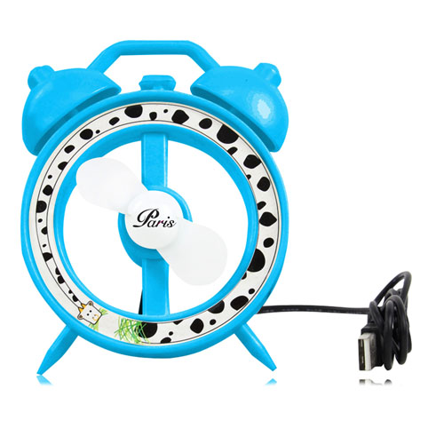 Alarm Clock Shaped USB Fan