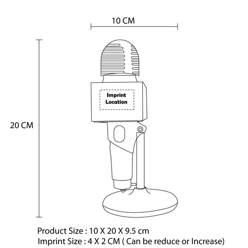 Microphone Shaped USB Desk Fan