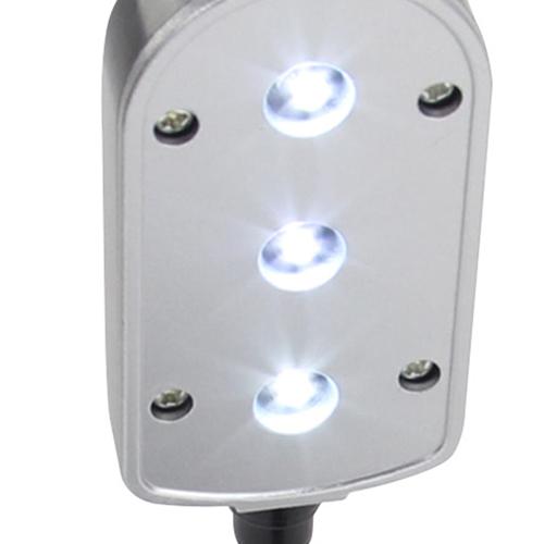 Clip On 3-LED Gooseneck Light