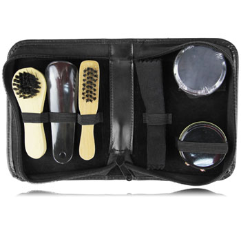 Travel Portable Shoe Polish Kit