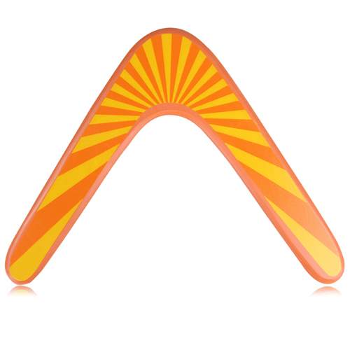 V Shaped Wooden Boomerang