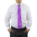 Men Diagonal Stripes Necktie