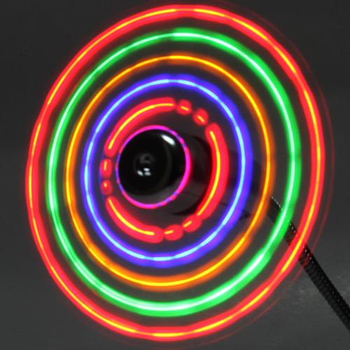 Flexible USB Mini Fan With LED