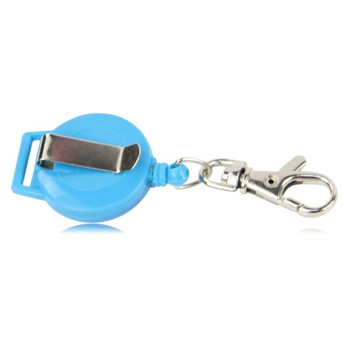Round Retractable Badge Reels Holder With Clip