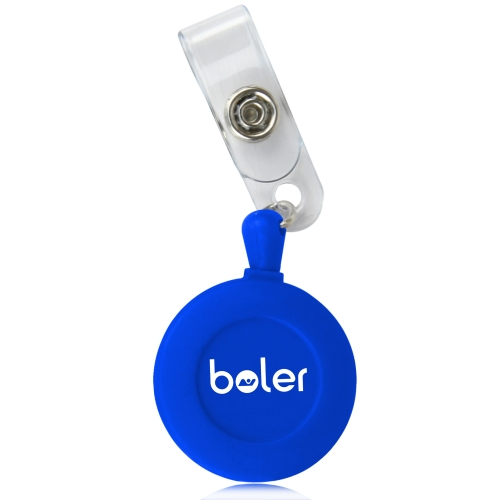 Round Retractable Badge Snap Strap
