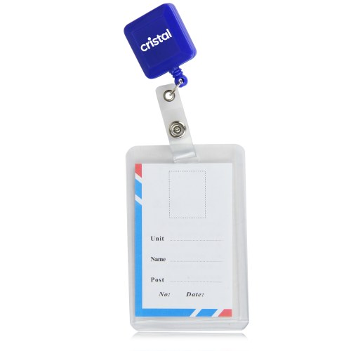 Square Extendable Plastic Badge Reel