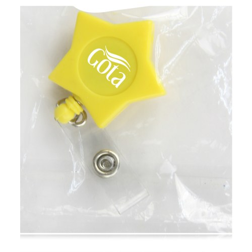 Star Retractable Reel With Metal Clip