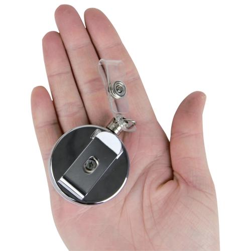 Metal Retractable Badge Reel With Clip