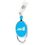 Carabiner Retractable Badge Holder With Clip