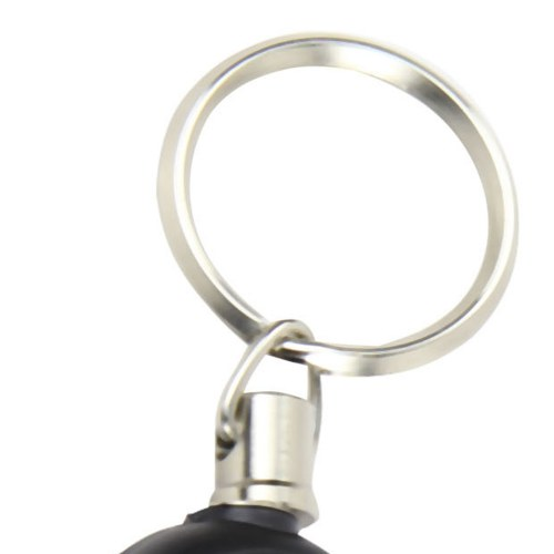 Round Retractable Recoil Keyring Reel