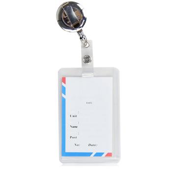 Chrome Metal Retractable Badge Reel