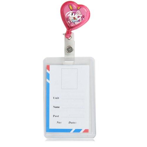 Heart Shaped Retractable ID Badge