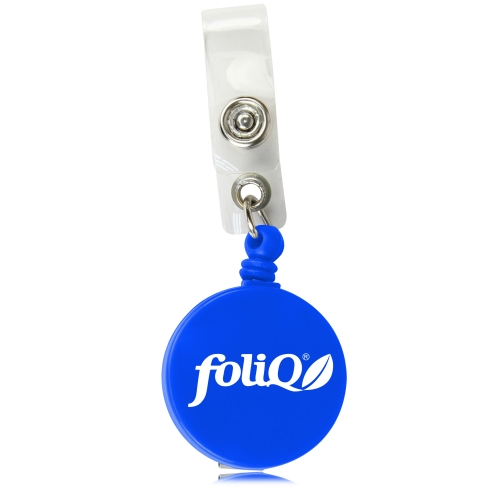 Round Retractable ID Badge Holder