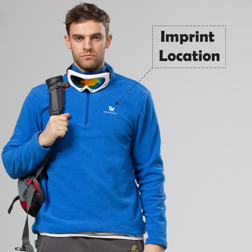 Polar Fleece Zip Pullover Jacket Imprint Image