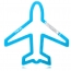 Air Plane Shaped Carabiner Keychain