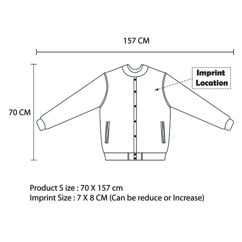 Fancy Closure Sweater Jacket Imprint Image
