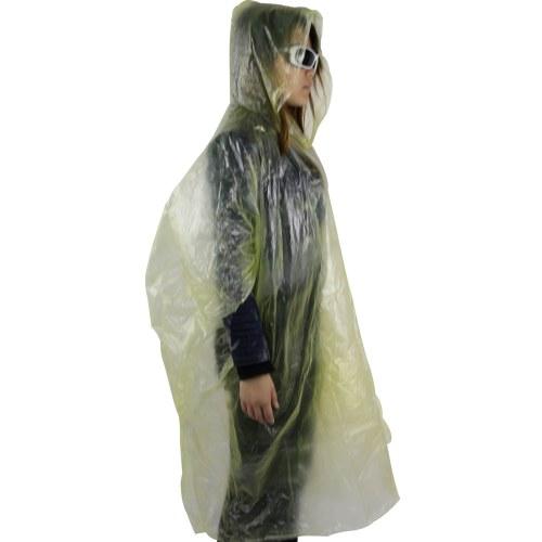 Disposable Reusable Rain Poncho Image 2