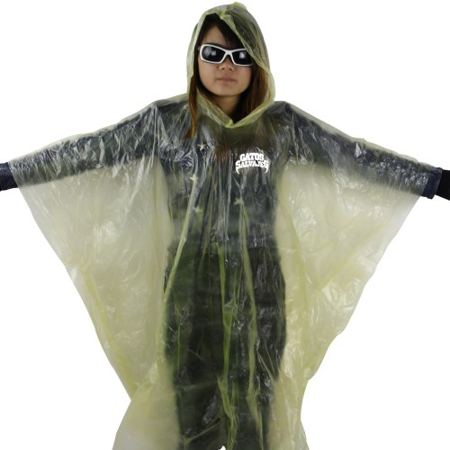 Disposable Reusable Rain Poncho