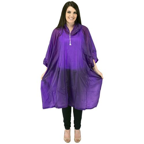 Rainwear Poncho With Drawstring Hood