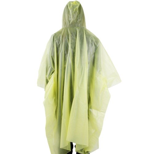 Reusable Hooded Rain Poncho With Drawstring