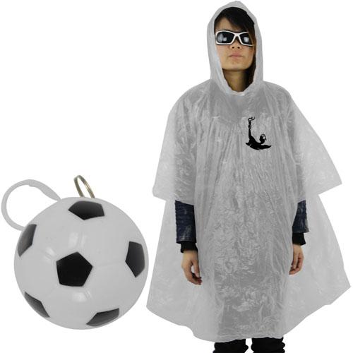 Football Rain Poncho With Hood