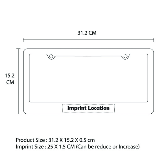 Gloss License Plate Frame Imprint Image