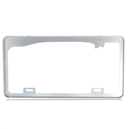 Chrome Aluminum License Plate Frame Image 1