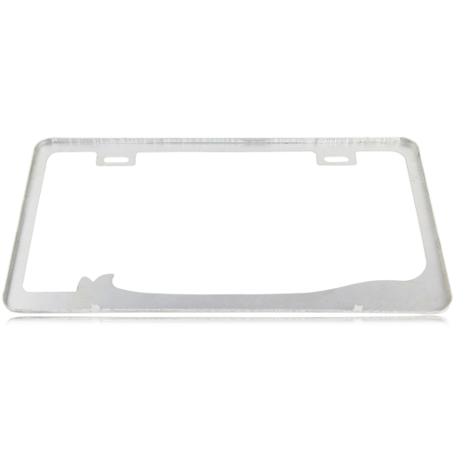 Chrome Aluminum License Plate Frame Image 2