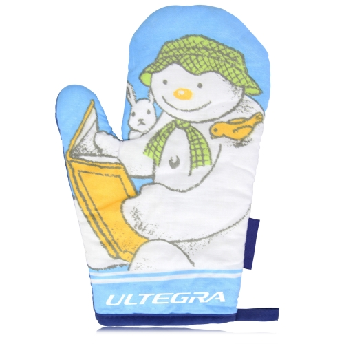 Snowman Design Cotton Oven Mitt