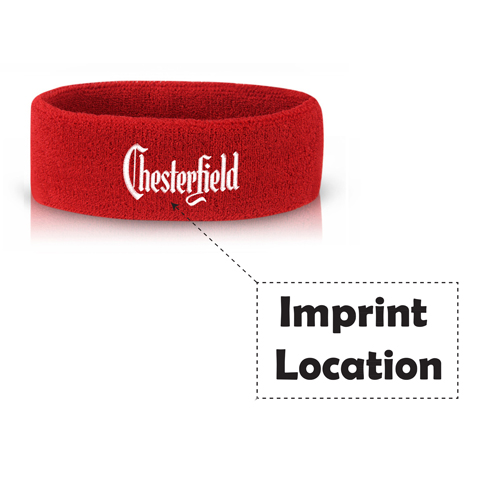 Sports Cotton Sweat Headband Imprint Image