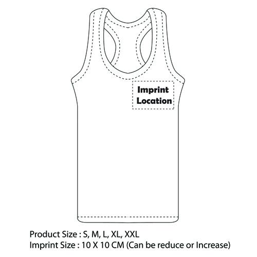 Ladies T-Back Singlet Imprint Image