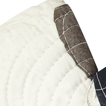 Ribbed Patch Cotton Gloves
