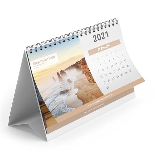 13 Page Desktop Spiral Bound Calendar