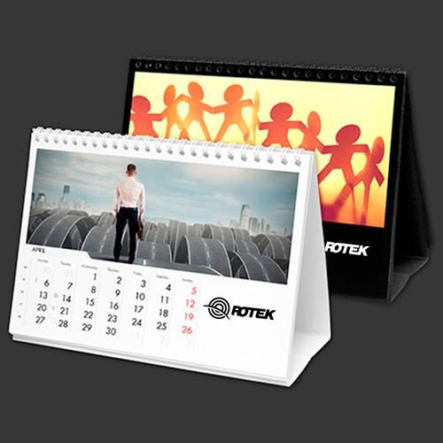 13 Page Desktop Spiral Bound Calendar Image 1