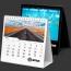 13 Page Desktop Spiral Bound Calendar Image 2