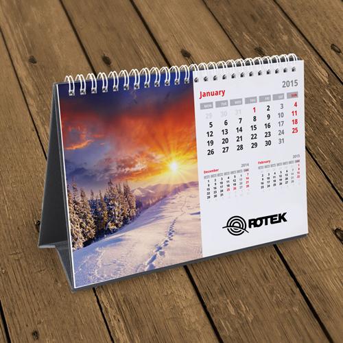 13 Page Desktop Spiral Bound Calendar Image 3
